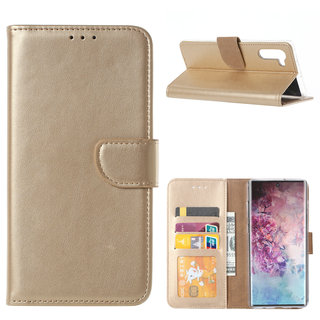Bookcase Samsung Galaxy Note 10 hoesje - Goud