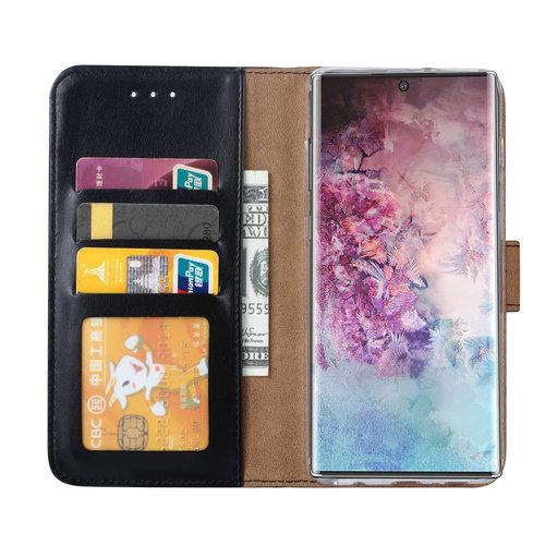 Bookcase Samsung Galaxy Note 10 hoesje - Zwart