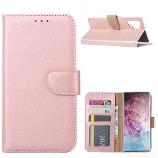 Bookcase Samsung Galaxy Note 10 Plus hoesje - Rosé Goud