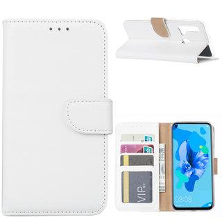 Bookcase Huawei P20 Lite (2019) hoesje - Wit