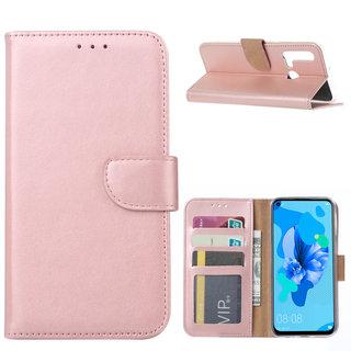 Bookcase Huawei P20 Lite (2019) hoesje - Rosé Goud