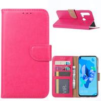 Bookcase Huawei P20 Lite (2019) hoesje - Roze
