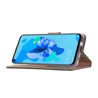 Don't Touch My Phone print lederen Bookcase hoesje voor de Huawei P20 Lite (2019) - Zwart