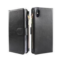 Xssive Portemonnee Case Apple iPhone X hoesje - Zwart