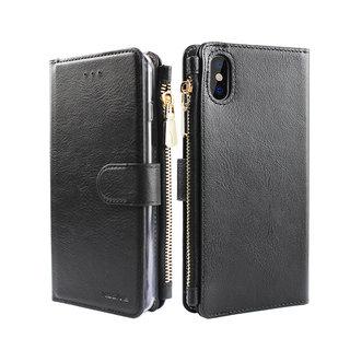 Portemonnee Case Apple iPhone X hoesje - Zwart