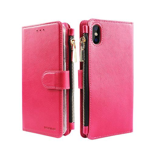 Xssive Portemonnee Case Apple iPhone XS hoesje - Roze