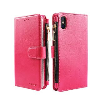 Portemonnee Case Apple iPhone XS Max hoesje - Roze