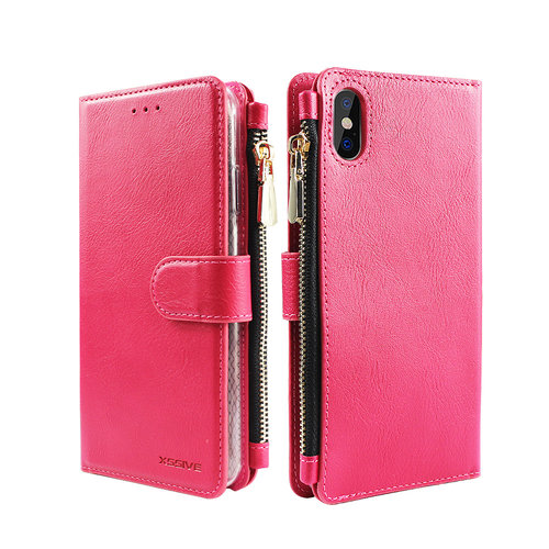 Xssive Portemonnee Case Apple iPhone XS Max hoesje - Roze