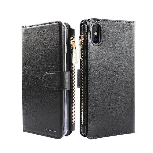 Xssive Portemonnee Case Apple iPhone XR hoesje - Zwart