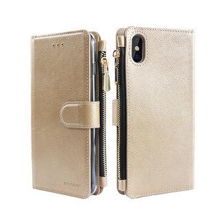 Portemonnee Case Apple iPhone XR hoesje - Goud
