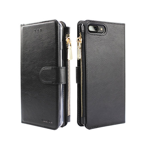 Xssive Portemonnee Case Apple iPhone 7 hoesje - Zwart