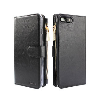 Portemonnee Case Apple iPhone 8 hoesje - Zwart