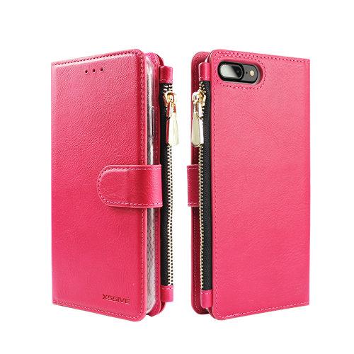 Xssive Portemonnee Case Apple iPhone 7 Plus hoesje - Roze