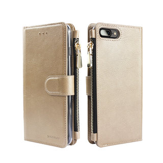 Portemonnee Case Apple iPhone 7 Plus hoesje - Goud