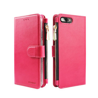 Portemonnee Case Apple iPhone 8 Plus hoesje - Roze