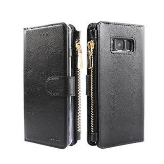 Portemonnee Case Samsung Galaxy S8 hoesje - Zwart