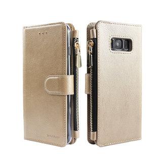 Portemonnee Case Samsung Galaxy S8 hoesje - Goud