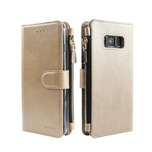 Xssive Portemonnee Case Samsung Galaxy S8 hoesje - Goud
