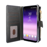Xssive Portemonnee Case Samsung Galaxy S8 Plus hoesje - Zwart