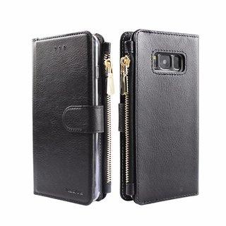 Portemonnee Case Samsung Galaxy S8 Plus hoesje - Zwart