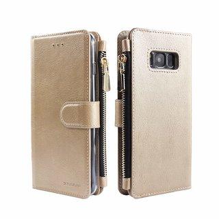 Portemonnee Case Samsung Galaxy S8 Plus hoesje - Goud