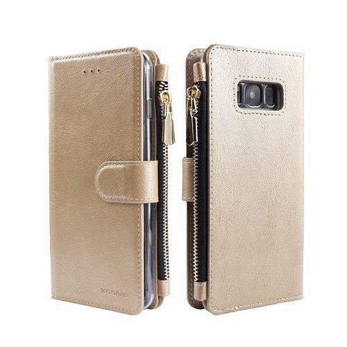 Xssive Portemonnee Case Samsung Galaxy S8 Plus hoesje - Goud