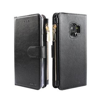 Portemonnee Case Samsung Galaxy S9 hoesje - Zwart