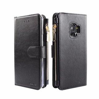 Portemonnee Case Samsung Galaxy S9 Plus hoesje - Zwart