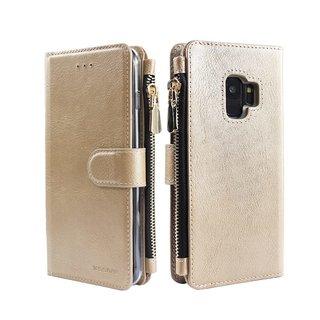 Portemonnee Case Samsung Galaxy S9 Plus hoesje - Goud