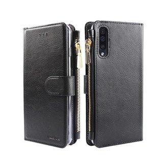 Portemonnee Case Samsung Galaxy A50 hoesje - Zwart