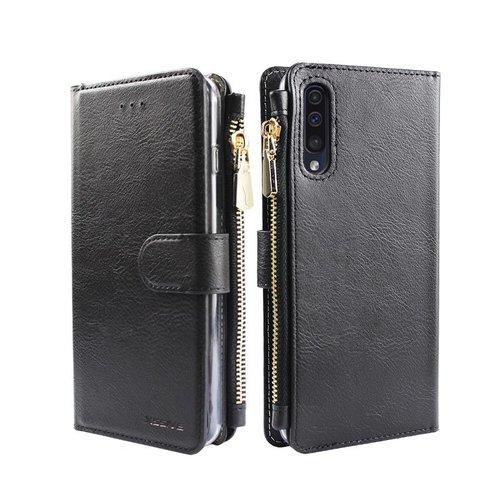 Xssive Portemonnee Case Samsung Galaxy A50 hoesje - Zwart