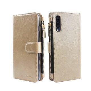 Portemonnee Case Samsung Galaxy A70 hoesje - Goud