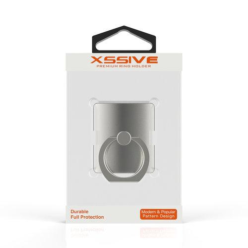 Xssive Telefoon Ring houder / Ring standaard universeel - Zilver