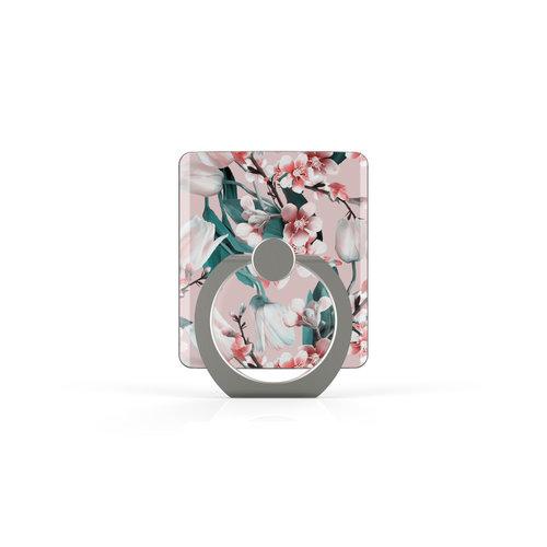 Xssive Telefoon Ring houder / Ring standaard universeel - Kersenbloesem print