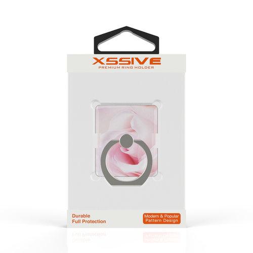Xssive Telefoon Ring houder / Ring standaard universeel - Roos print