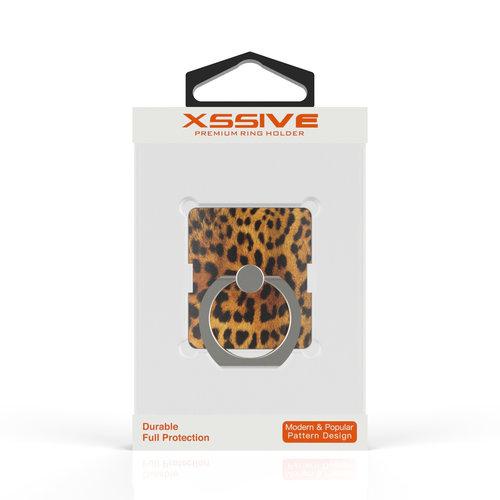Xssive Telefoon Ring houder / Ring standaard universeel - Panter print