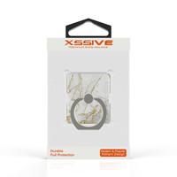 Xssive Telefoon Ring houder / Ring standaard universeel - Carrara Goud Marmer print