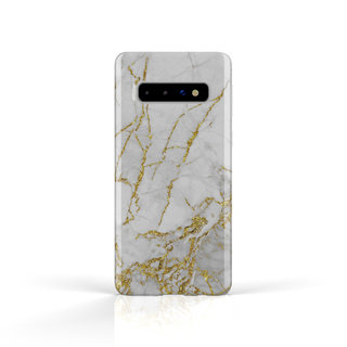 Fashion Case Samsung Galaxy S10 Plus hoesje - Carrara Goud Marmer print