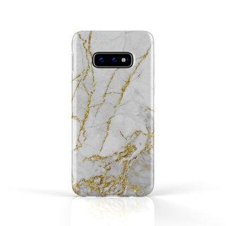 Fashion Case Samsung Galaxy S10E hoesje - Carrara Goud Marmer print