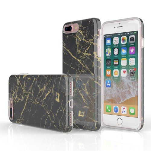 Xssive Fashion Case Apple iPhone 7 Plus hoesje - Port Laurant Marmer print