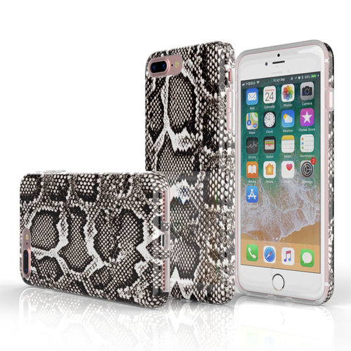 Xssive Fashion Case Apple iPhone 8 Plus hoesje - Slangen print