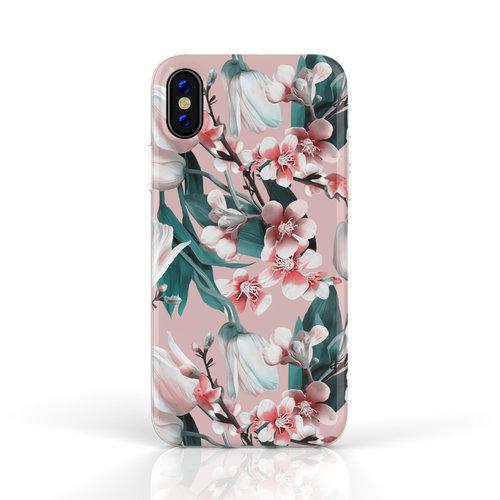 Xssive Fashion Case Apple iPhone X / XS hoesje - Kersenbloesem print