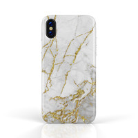 Xssive Fashion Case Apple iPhone X / XS hoesje - Carrara Goud Marmer print