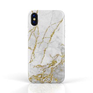 Fashion Case Apple iPhone X / XS hoesje - Carrara Goud Marmer print