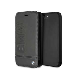 Originele Signature Debossed Logo Bookcase voor de Apple iPhone 6 Plus / 6S Plus / 7 Plus / 8 Plus - Zwart
