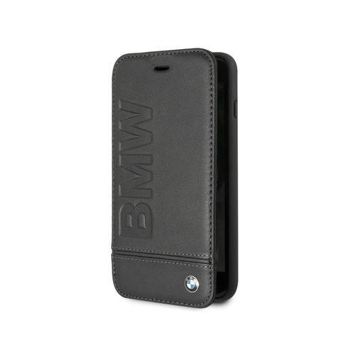 BMW Originele Signature Debossed Logo Bookcase voor de Apple iPhone 6 Plus / 6S Plus / 7 Plus / 8 Plus - Zwart