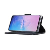 Echt lederen Bookcase Samsung Galaxy S10E hoesje - Zwart (100% Echt leren hoesje)