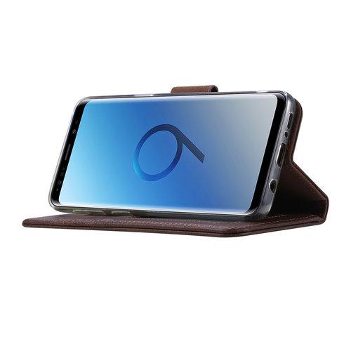 Echt lederen Bookcase Samsung Galaxy S9 hoesje - Bruin (100% Echt leren hoesje)