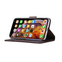 Echt lederen Bookcase Apple iPhone XR hoesje - Bruin (100% Echt leren hoesje)