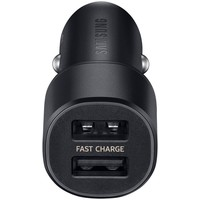 Samsung Originele Dual Port Autolader Kop Adaptive Fast Charging  - Zwart